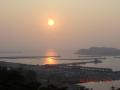 ゆうひパークより夕陽の眺め