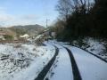 岩子島での雪道