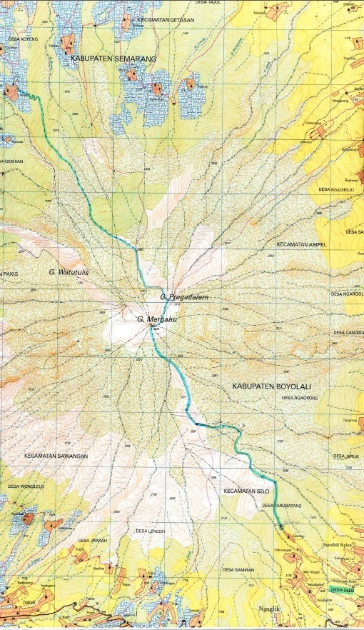 Gunung Merbabu 地図