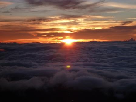 17山頂からの日の出