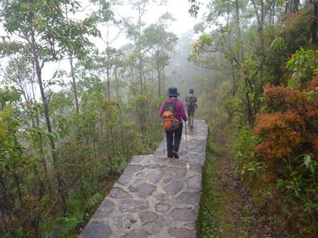 30登山口近くは石畳になっている