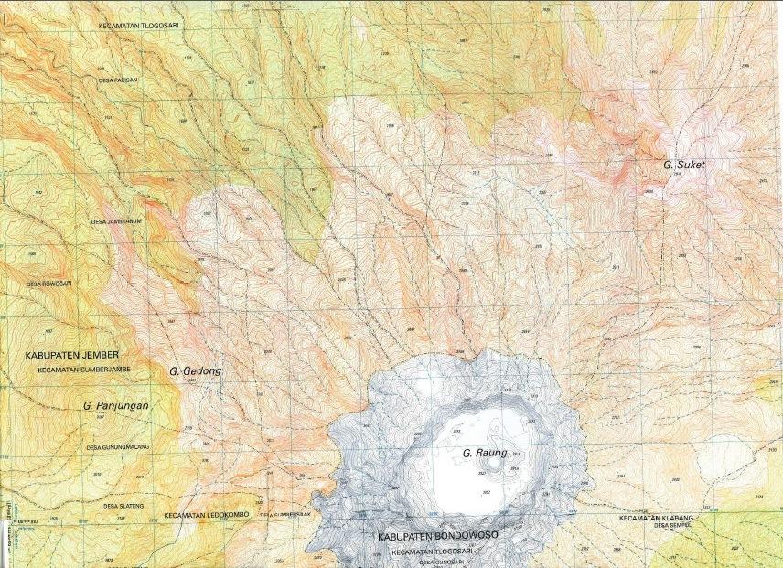 Map Gunug Raung