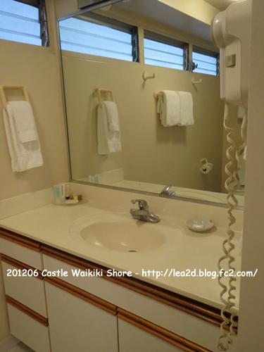 2012年6月 CASTLE WAIKIKI SHORE(キャッスルワイキキショア) - 1 Bedroom / 1 Bath Deluxe Ocean Vie(1ベッドデラックスオーシャンビュー)