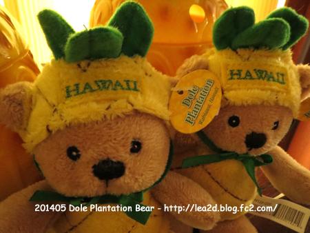 2014年5月 Dole Plantation(ドールプランテーション) で買う。くまちゃん。