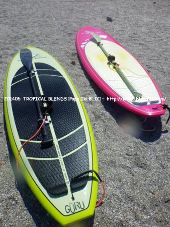 """2014年5月 ハワイで、SUP(スタンドアップパドル)のボードを買う。TROPICAL BLENDS(Papa Iki 8'0"""")"""