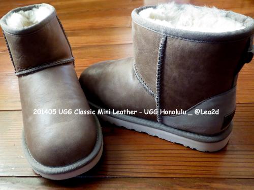 2014年5月 ハワイのUGG直営店で買う。Classic Mini Leather (アグ クラシック ミニ レザー)