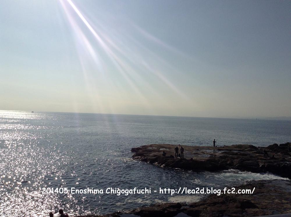 2014年10月 江の島岩屋前の稚児ヶ淵(ちごがふち) - Enoshima Iwaya Cave(Chigogafuchi)