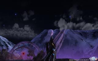 遺跡の夜景
