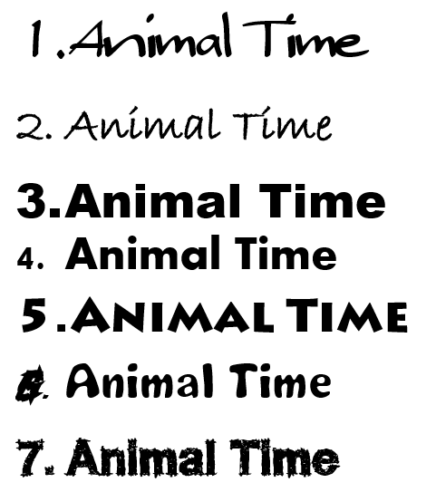 Animal Time 字面