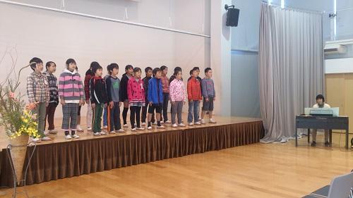 5年生からは素敵な合唱を!