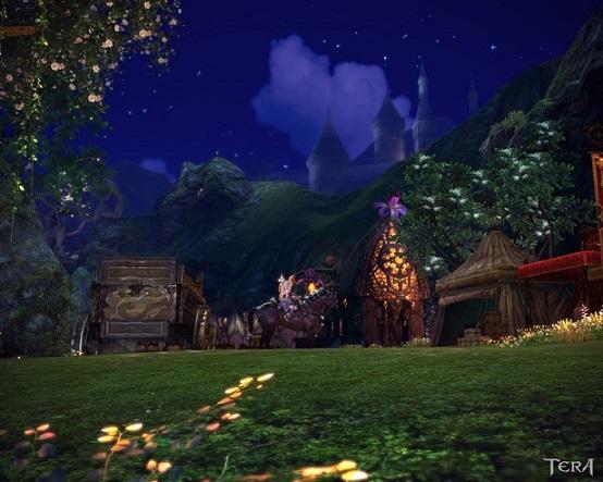 遠くに見える魔法学校