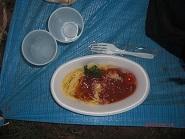 平塚24時間晩飯のパスタ