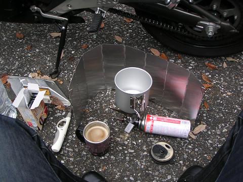 3熱々コーヒー