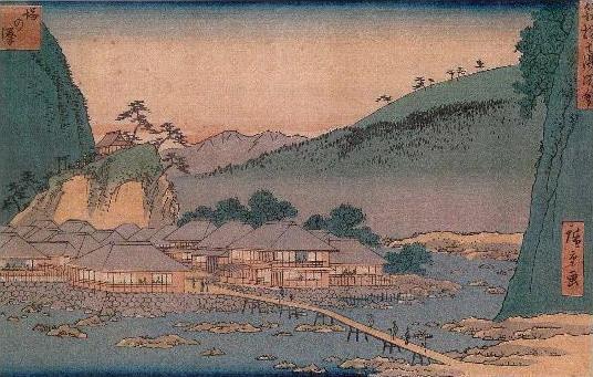 安藤広重の箱根七湯 塔の澤