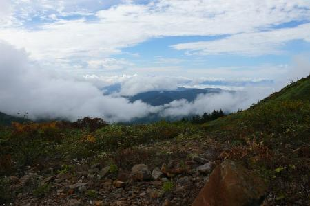 眼下の雲海