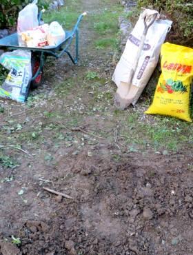 2013_11 08_プラム移植の土作り