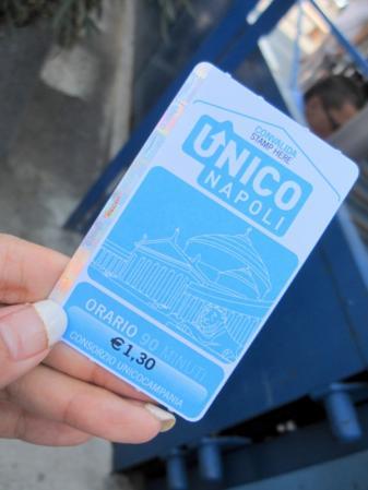 ナポリの切符ウニコ