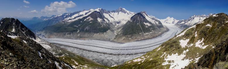 アレッチ氷河パノラマ2