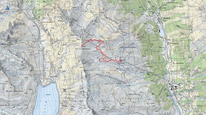 GPSトラック Col de Sorebois-2