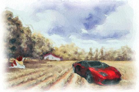 広大な農地と憧れのスーパーカー・・・とヨーゼフ