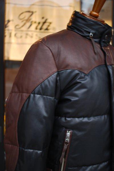 マックスフリッツ(レディース&メンズ)ライディングジャケットMFB-1825/レザーダウンジャケット