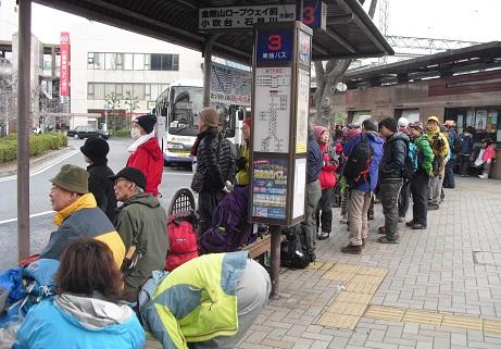 1 河内長野駅前のバス乗り場