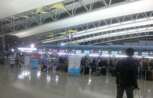 1 関空・大韓航空のカウンター