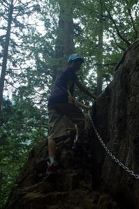 天狗岩に登る