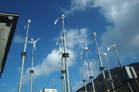 山びこ荘の風力発電