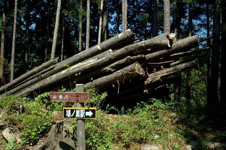 材木?と道標