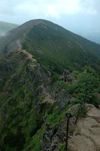 硫黄岳方面