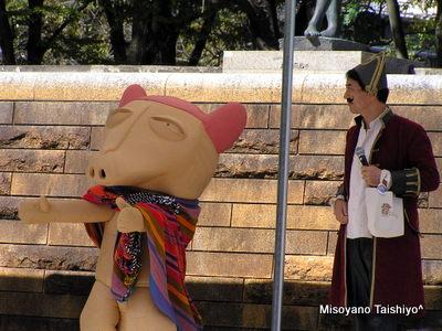ペッカリーイベントで歌う'13.10.12桃太郎まつり(石山公園)
