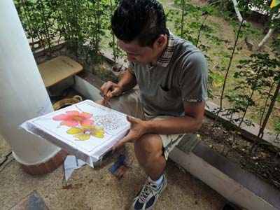 batik painting staff