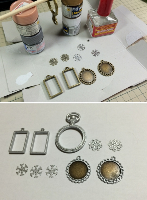 014 レジン 枠 チャーム皿 塗装