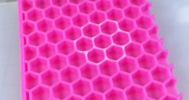 ●003 レジン シリコン 六角形型 蜂蜜 コースター