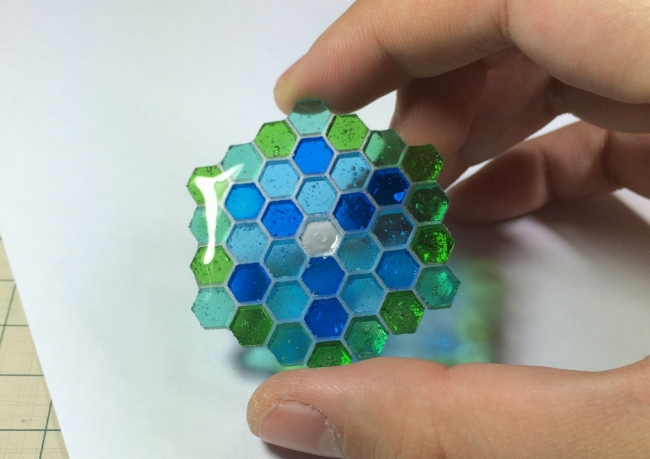 ●005 レジン シリコン 六角形型 蜂蜜 コースター