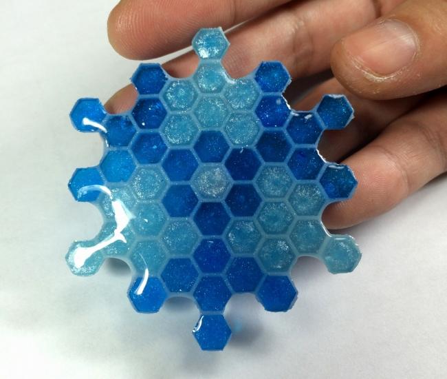 ●010 レジン シリコン 六角形型 蜂蜜 コースター 雪の結晶