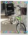 自転車とトレーラー