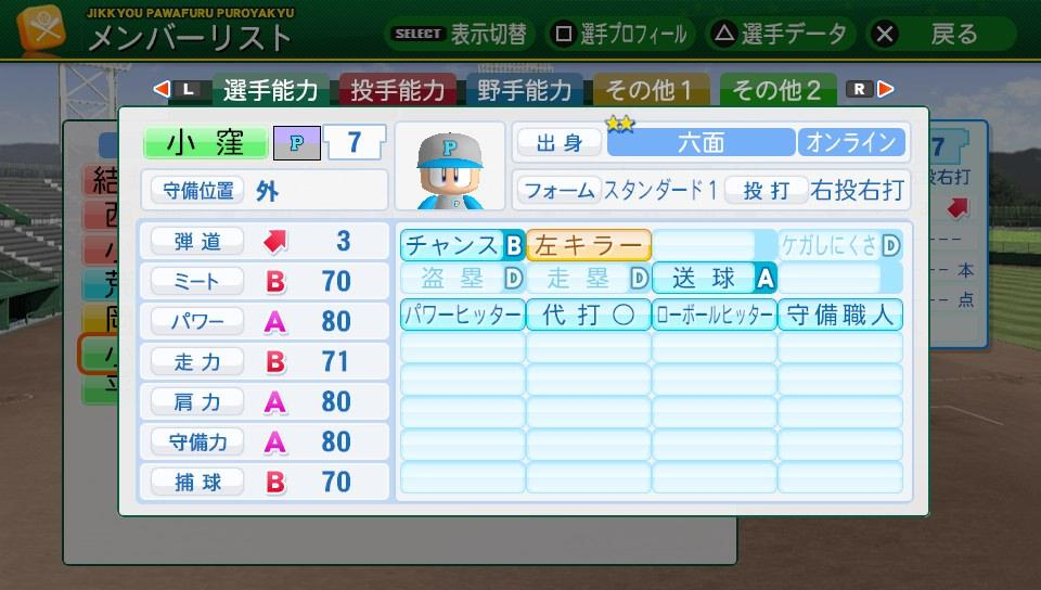 壱琉大学 野手(手術無し)