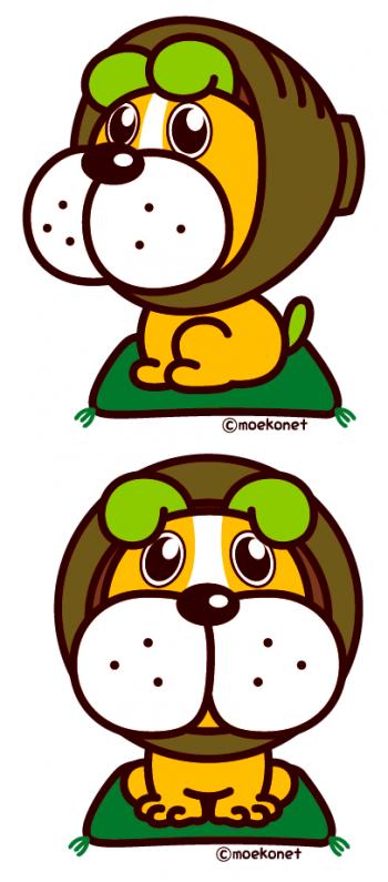 ゆるキャラ犬デザイン/志野田茶太郎