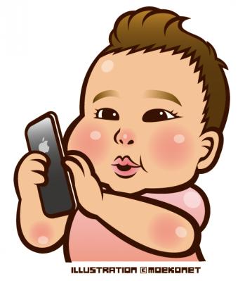 赤ちゃん女の子の似顔絵イラスト