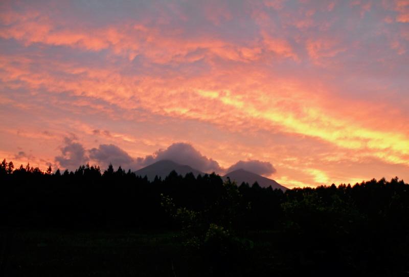 磐梯山夕焼け
