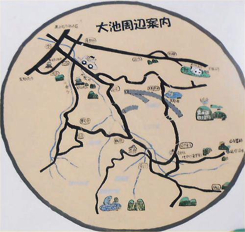 11b 500 20141130 やすらぎ荘周辺02大池:map in board