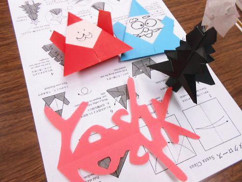 01 500 20141212 Xmas Preparation01 Worm-letters折り紙