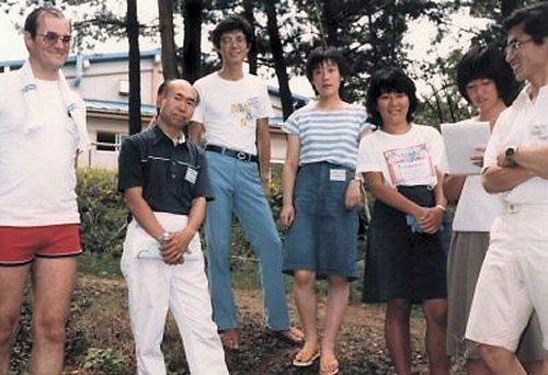 03 500 19830817 AtKashiwazakiBibleInstituteWithPastorHayatsu