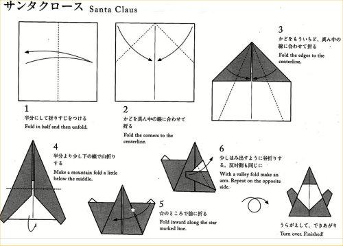 05 origami:santa
