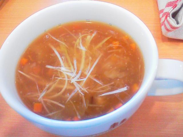 生姜と醤油糀(しょうがとしょうゆこうじ)のスープ