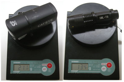 ヘッドライト重量比較