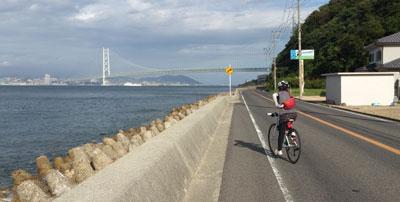 明石海峡大橋が見えてきたら