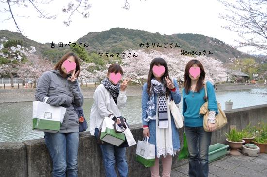 京都お花見記念写真